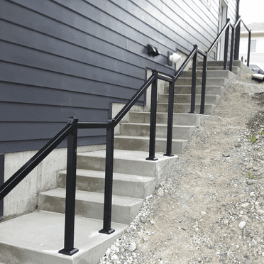 exterior stairs with metal railing